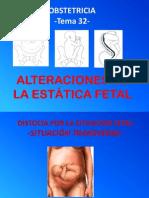 Alteraciones Estatica Fetal