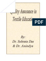 Quality Assurance in Textile Education