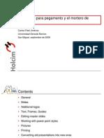 Usos y Caracteristicas de Los Morteros a Base de Cemento Portland