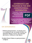 Governance and Taxation in the New Constitutional Dispensation Final