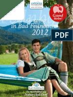 Gastgeberverzeichnis Bad Feilnbach 2012 2012