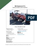 Kubota R410B Loader Backhoe For Sale (UEQ260911A)
