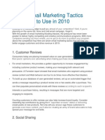 7 New Email Marketing Tactics You Have to Use in 2010