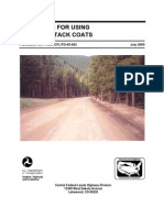Guidelines for PrimeCoat and Tack coat