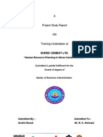 Project on HR in Cement Industry