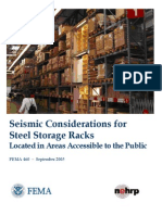 fema-460 Seismic Considerations for Steel Storage Racks Located in Areas Accessible to the Public