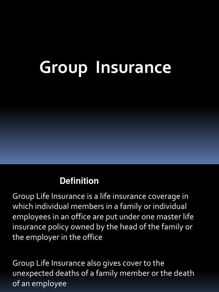 Group Life Insurance Definition | Examples and Forms