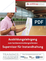 Lehrgang für Instandhaltung - neu ab 2012