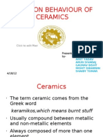 Friction of Ceramics