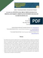 INFLUÊNCIA DAS ÁREAS VERTICALIZADAS E DA PRESENÇA DE PARQUES AMBIENTAIS NAS ILHAS DE CALOR GOIÂNIA-GO