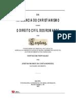 cia Do Cristianismo Para o Direito Civil Romano