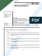 NBR 12653 - Materiais Pozolanicos