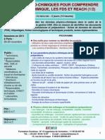 Formation Continue Bases physico-chimiques pour comprendre le risque chimique 2011