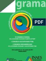 Programa VI Congreso Federal de Economia Solidaria