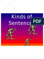 kinds of sentences flash cards