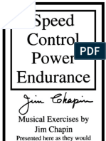 Speed Control Power and Endurance Booklet
