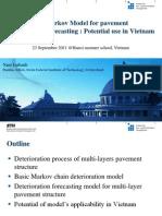 Hierchical Markov Model for Pavement deterioration forecasting
