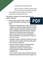 Definición e importancia de la administración