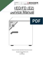 Binder BD-ED-FD - Service Manual