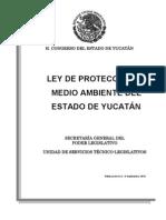 Ley de Proteccion Del Ambiente Del Estado de Yucatan Actual