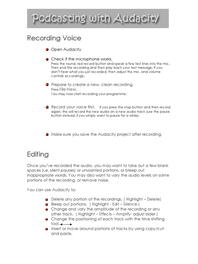 Audacity Intro | Sound Recording And Reproduction | Podcast