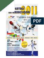 Sudamericano de Taekwondo WTF 06/11/2011 Invitacion
