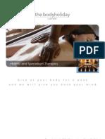Holistic Treatments Brochure