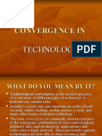 Research in Convergence in Technology