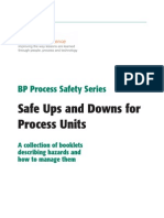 BP Process Safety Series - Safe Ups and Downs for Process Units (7th Edition)