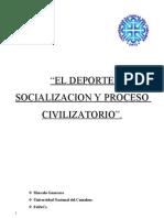 Deporte Socializacion y Proceso Civilizatorio