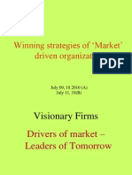 Winning Strategies of Market Driving Organization L1(2)
