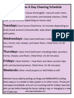 15 Minutes a Day Cleaning Schedule