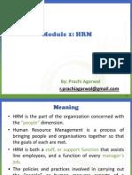 Module 1- HRM
