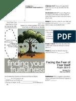 Fruitfulness 10 Psalm 39-4-5 Handout 100911