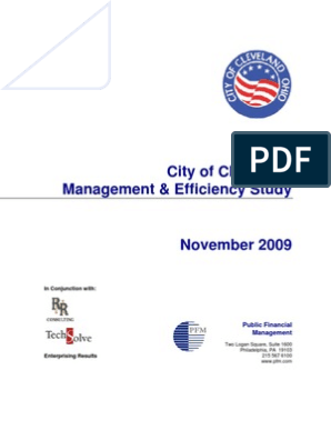 City of Cleveland Management & Efficiency Study, November