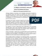 Liderazgo, diálogo y concertación, claves para resolver los problemas del Cauca