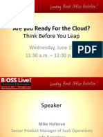 1.0 Are You Ready for the Cloud