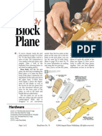 Brass-Body Block Plane - August Home Publishing