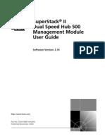Manual do usuário 3COM DUAL SPEED HUB 500 MGMT MODULE