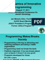 JGS Programming 2011