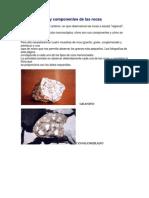 Características y componentes de las rocas