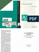 O contrato social. J.J Rousseau. ed. Martins Fontes (tradução de Antônio de Pádua).