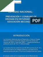ESTUDIO NACIONAL.Drogas