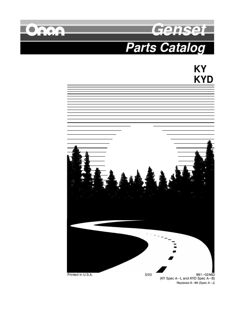 Ky Parts Manual Carburetor Screw Onan Generator Engine Diagram