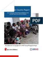 South Sudan Country Report