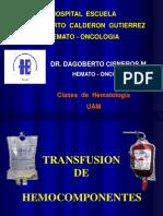 Transfusion de Hemocomponentes