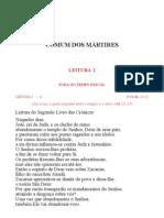 Leccionario Santoral Comum Dos Martires