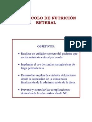 dieta polimerica por sonda nasogastrica