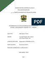 Deteerminacion de Costos de Produccion de Leche en Las Cuencas Lecheras de Lima