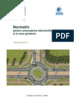 Normativ Pentru Amenajarea Intersectiilor La Nivel Si in Sens Giratoriu - Red Act Area I